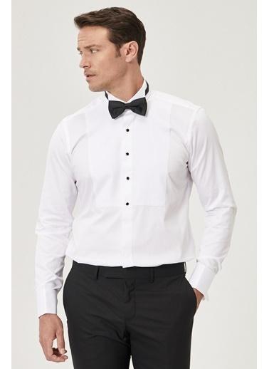 Beymen Business Slim Fit Atayaka Gömlek 4B2020200105 Beyaz